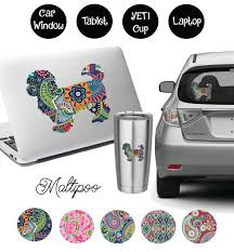 Maltipoo Decal Etsy Patterned Vinyl Devon Rex Cats Rex Cat