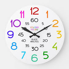 learn to tell time classroom wall clock
