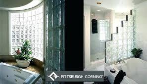 glass block shower wall ideas