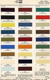 1971 ford mustang car paint colors