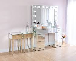monroe silver mirrored dressing table