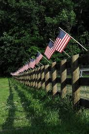 American Flag Fence Memorial Day 4th Of July I Love America