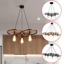 industrial chandelier wagon wheel light