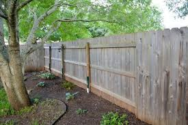 How To Fix A Leaning Fence Here Lately Com Backyard Fences Fence Landscaping Fence Plants