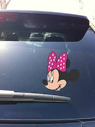 02 05 Minnie Mouse Bow Mickey Head Set Profile Car Window Vinyl Decal Sticker Ebay