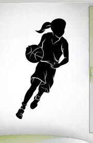 Girls Basketball Wall Decal 0290 Home Decor Basketball Theme Dec Wall Decal Studios Com