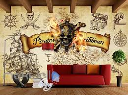 Grunge Poster Pirates Of The Caribbean In Sepia Art Wall Murals Wallpa Idecoroom