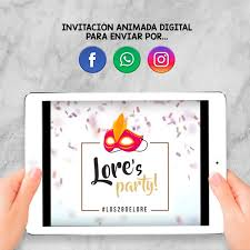 Invitacion Animada Digital Cumpleanos Fiesta Disfraces 450