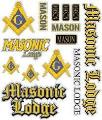 Mason Freemason Stickers Decals Greek Clothing Greek Gear