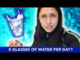 drinking 8 glasses of water per day