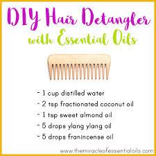diy essential oil hair detangler for