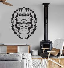 Vinyl Decal Wall Sticker Gorilla Animal Mammal Monkey Chimpanzee Moder Wallstickers4you