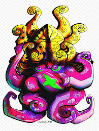 Splatoon 2 Fan Art Splatoon Purple Game Fictional Character Organism Art Png Nextpng