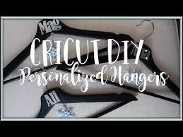 Cricut Diy How To Make Bridesmaids Hangers Youtube