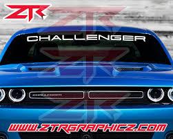 Custom Dodge Challenger Thin Windshield Decal Sxt Rt Hemi Srt Ztr Graphicz