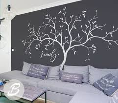 Family Tree Wall Decals Large White Tree Decal Nursery Tree Etsy