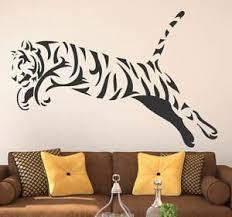 Black Tiger Wall Sticker Vinyl Art Mural Decal Home Living Room Decor Ebay