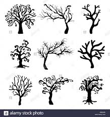 Halloween Creepy Scary Bare Tree Vector Symbol Icon Design Stock Photo Alamy
