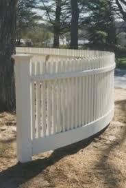 Curved Picket Fence Picket Fence Picket Fence Garden Fence