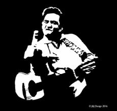 Johnny Cash Flipping The Bird Country Singer Vinyl Sticker Decal Ebay