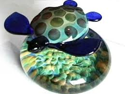 how to make a glass turtle paperweight