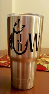 Men S Yeti Fish Hook Monogram Masculine Decal For Yeti Cups Coolers Insulated Cups Cars Toolbox Men Gi Yeti Cup Designs Monogram Vinyl Decal Cricut Vinyl
