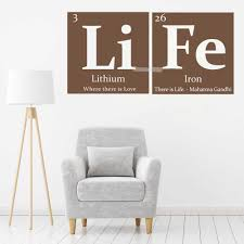 Li Fe Periodic Table Of Elements Life Vinyl Wall Decal Gandhi Quote Art Fashion Home Decor Wallpapers Diy Removable Hot Lc437 Periodic Table Of Elements Periodic Tabletable Periodic Table Aliexpress