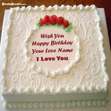 happy birthday cake for lover name with