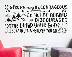 Quote Wall Decal Joshua 1 9 Etsy
