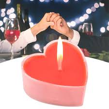 9 قطعة الشموع القلب على شكل الأحمر شمعة رومانسية الحب الزفاف حزب