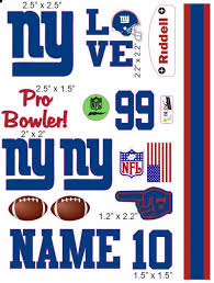 New York Giants Cranial Band Decoration From High Quality Vinyl
