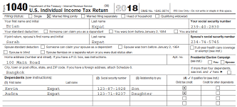completing form 1040 the face of your