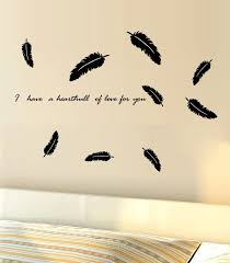 Black Flying Feather Wall Decal Sticker Bedroom Living Room Tv Background Wall Art Mural Decor Sticker Loving You Wall Quote Decal Sticker Wall Stencils Stickers Wall Sticker From Magicforwall 1 57 Dhgate Com