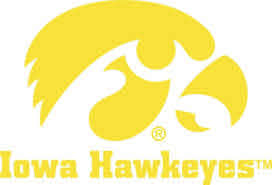 Iowa Hawkeyes With Tigerhawk Logo Vinyl Car Decal