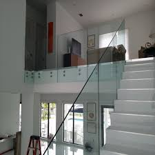 frameless glass railing system with