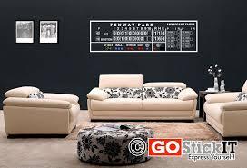 Fenway Park Scoreboard Man Cave Vinyl Wall Decal Art 2 Decal Wall Art Vinyl Wall Art Decals Vinyl Wall Decals
