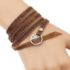 men women leather wrap bracelet