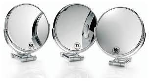smile magnifying mirror in chrome 10x