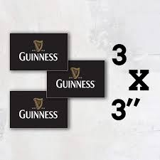 Amazon Com Guinness Beer Logo Vinyl Sticker Art Decal Set Of 3 Pieces 3 Longer Side Sports Outdoors