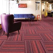 Carpet Tiles Commercial Carpet Tiles Carpet Floor Tiles Carpet Tile 20x20inch For Bedrooms Living Rooms Kids Rooms Office Decor With Anti Slip Asphalt Bottom Backing Red Stripe 706 24tiles