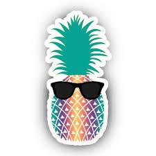 Sunglasses Summer Pineapple Vibes Vinyl Decal Decor Wall