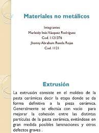 Materiales no metálicos: Integrantes Marleidy Inés Vásquez Rodríguez Cod.  1121376 Jhonny Abraham Rueda Rojas Cod. 1121
