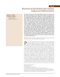 soil particle size ysis using laser