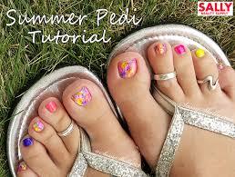 easy toe nail art with sally beauty