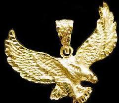 big massive huge eagle pendant charm