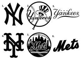 Ny Yankees Decal Ny Mets Decal Ny Sports Decal Baseball Decal Etsy