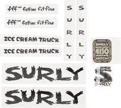 Surly Ice Cream Truck Frame Decal Set West End Ski Trail