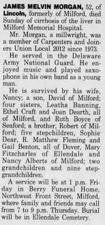 Obituary for MELVIN MORGAN JAMES (Aged 52) - Newspapers.com