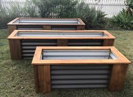 corrugated steel garden beds
