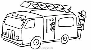 Tranh tô màu phương tiện giao thông đường bộ cho bé - Jadiny